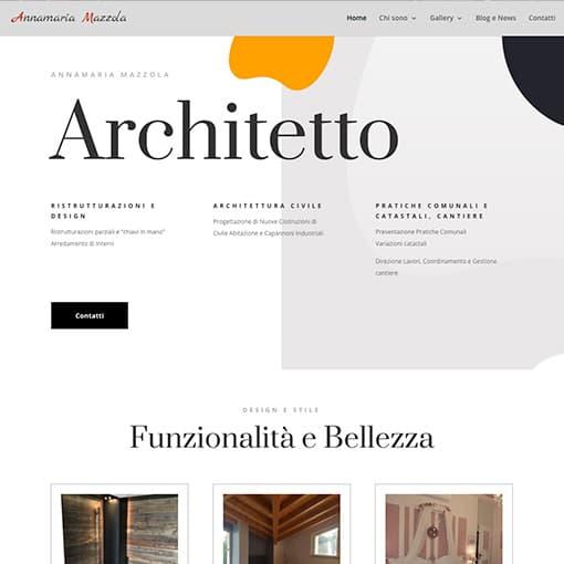 Realizzazione sito wordpress per un prestigioso sito di un architetto