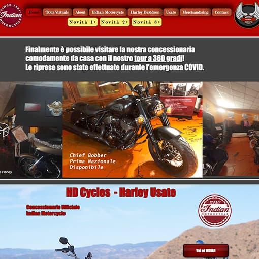 Gestione campagne marketing per conto di HDCycles concessionario di indian moto