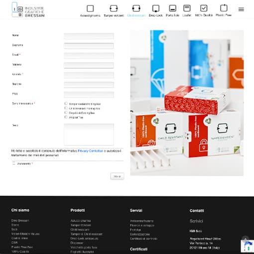 Gestione Web Marketing per il sito di Igbressan