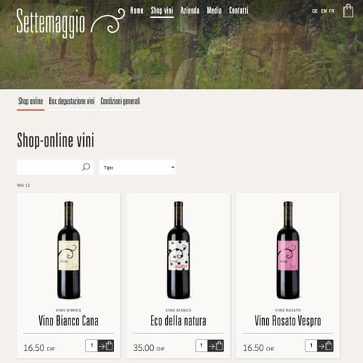 Pikabit gestisce le campagne marketing per Settemaggio: una delle più rinomate cantine Vinicole del Canton Ticino
